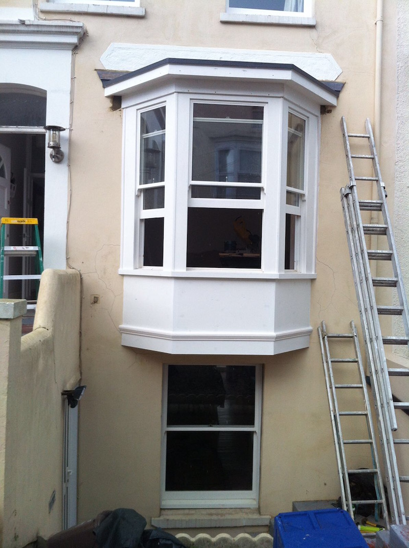 Double glazed sash window replacement completed