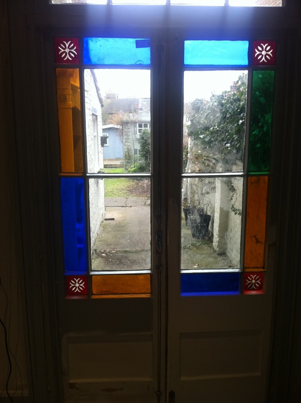 Beautiful French Doors rebuilt from scratch.