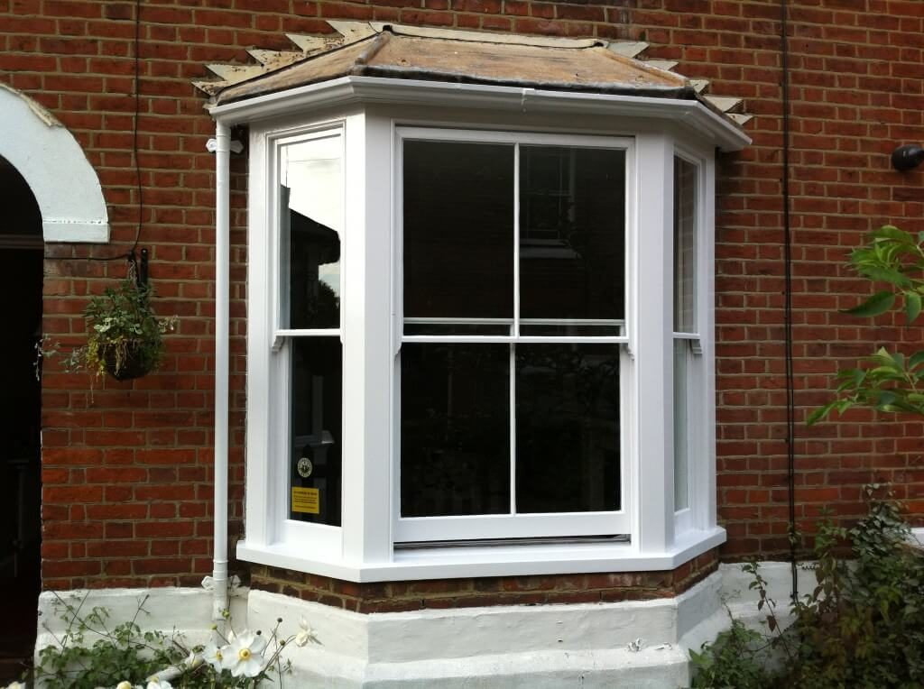 Original sash window draught proof and decorated