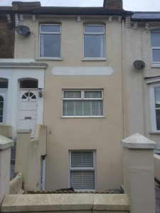 Prior to our double glazed bay sash window installation