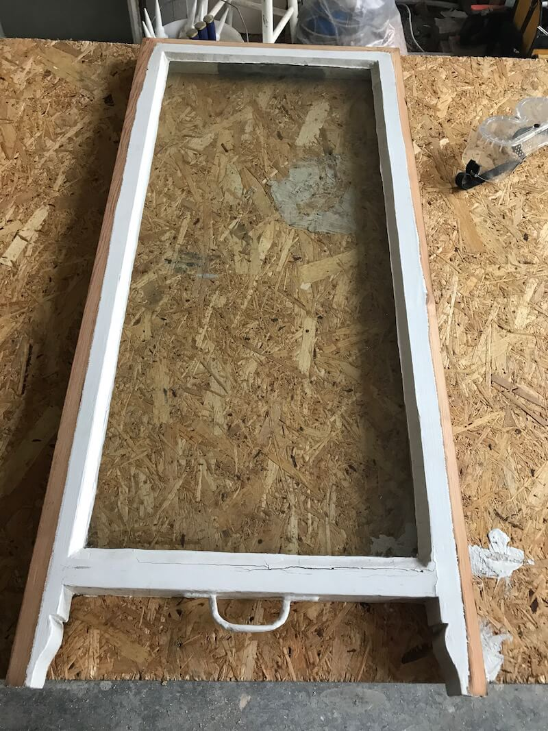 Sash window before the double glazing process