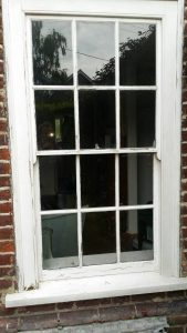 Old sash windows – should we repair or double glaze, the old conundrum.