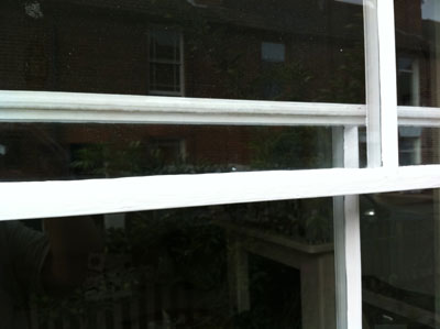 Sash window draught proofed with hidden rebated seals