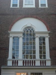 Curved head sash window from early Victorian Era