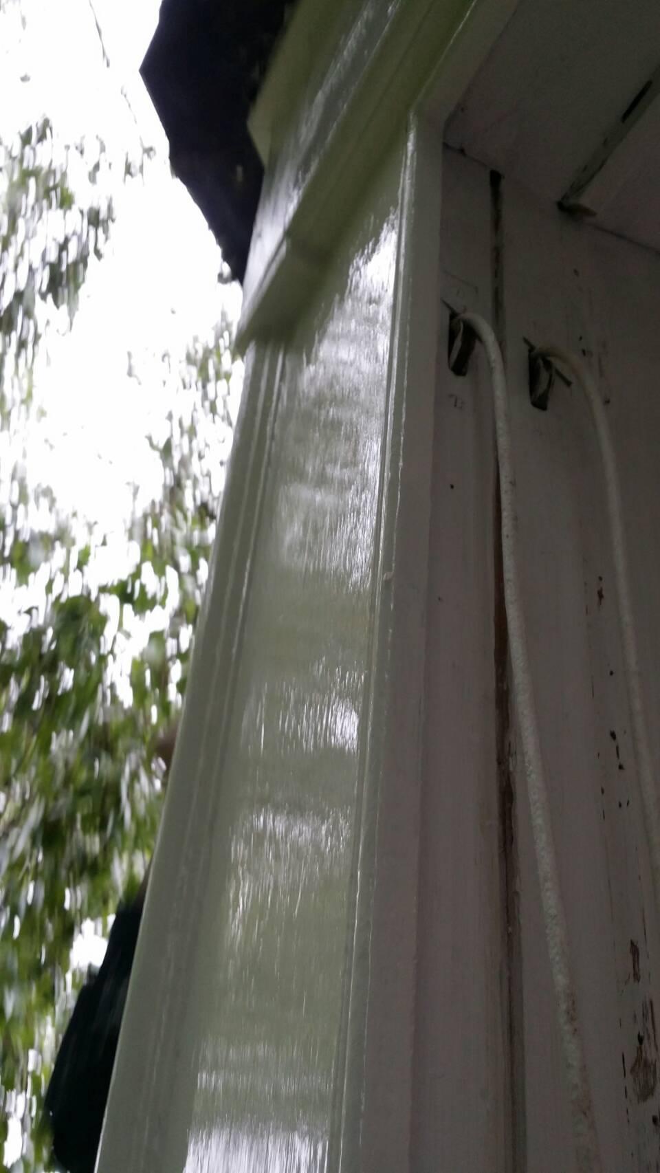 glossed sash window frame
