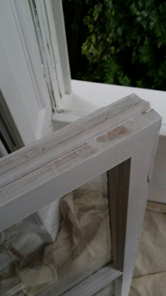 draught proofing into the sash