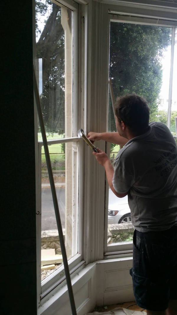 Refitting staff beading for sash windows