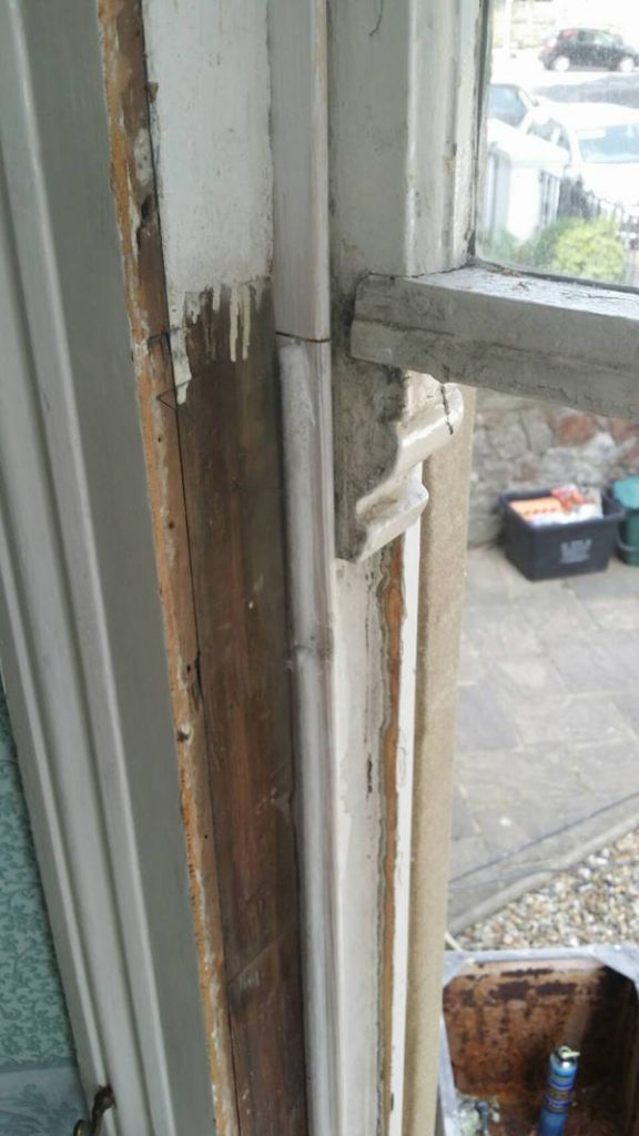sash window parting bead with draught proofing