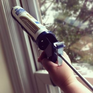 sealing sash window shut to draught proof