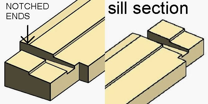 Sill section notched out