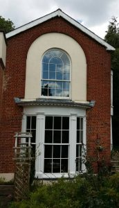 Timber sash windows refurbishment decorated