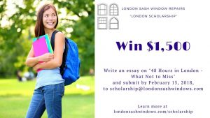 London Sash Windows Scholarship