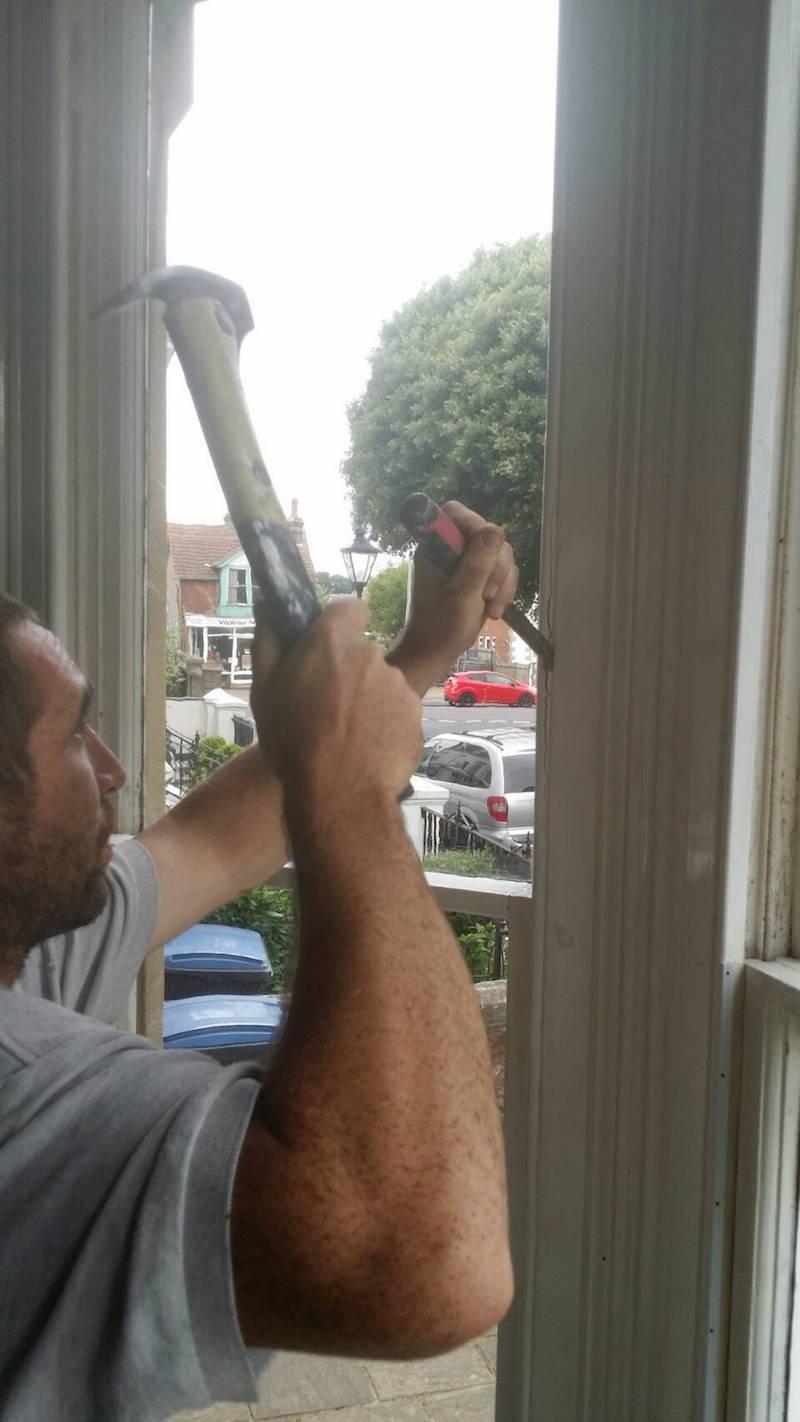 Removing sash windows Chelsea Fulham