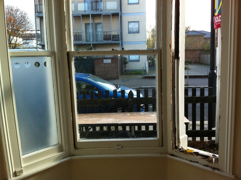Sash window double glazing and sill replacement West Norwood