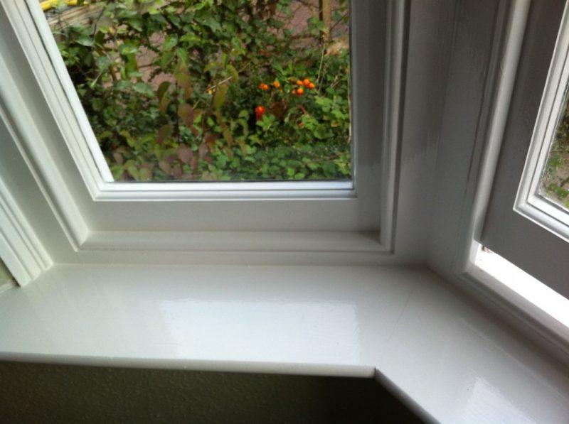 Painting timber sash windows