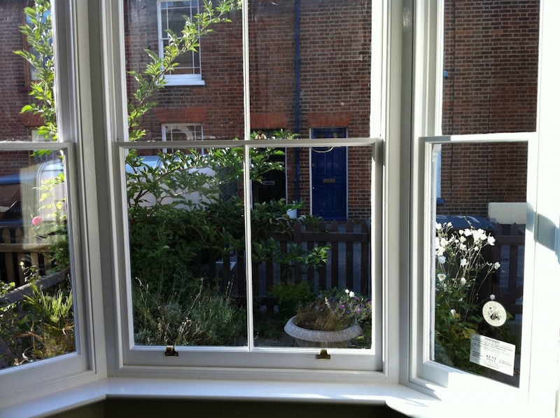 Sliding sash windows bay decorated fully