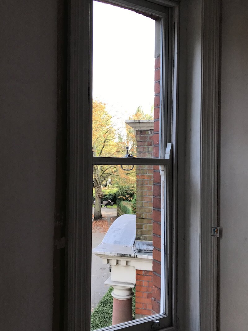Chiswick and Hammersmith internal of sash after double glazing the original sash