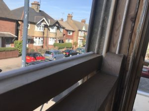 Draught proofing groove top sash Crouch End and Holloway