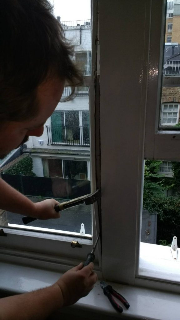 Kensington and Shepherd's Bush preparing for a sash window draught proofing system