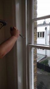 Kensington and Shepherd's Bush sash window draught proofing