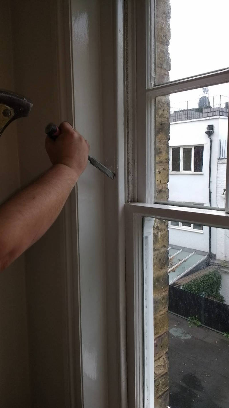 Kensington and Shepherd's Bush sash window draught proofing