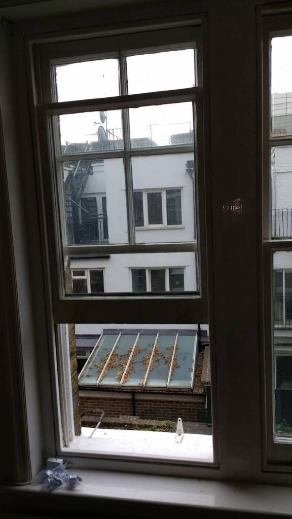 Kensington and Shepherd's Bush sash windows built after draught proofing – no visible difference to the windows
