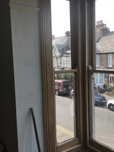 Sash window meeting rail alignment Crouch End and Holloway