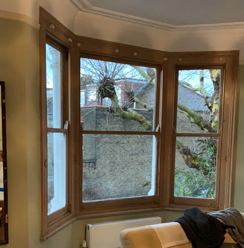 One of the most beautiful and original looking double glazed sash windows in London today.