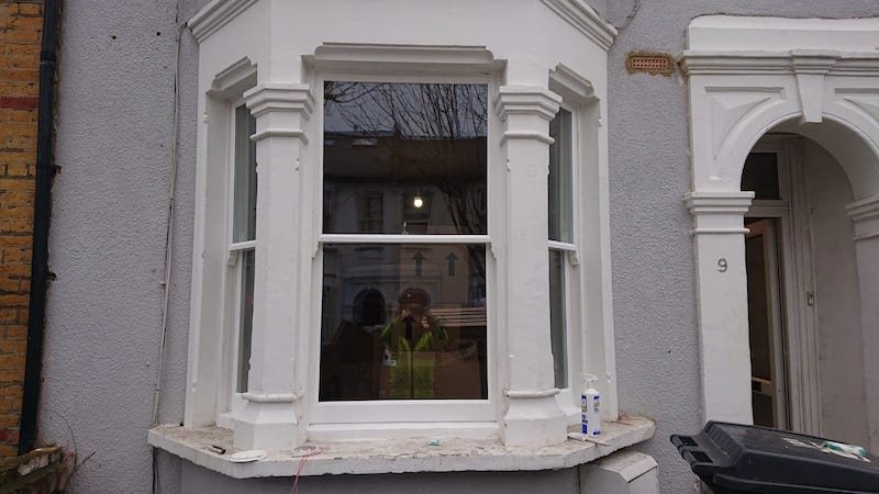 Double glazed sash windows installed into the original frame completed