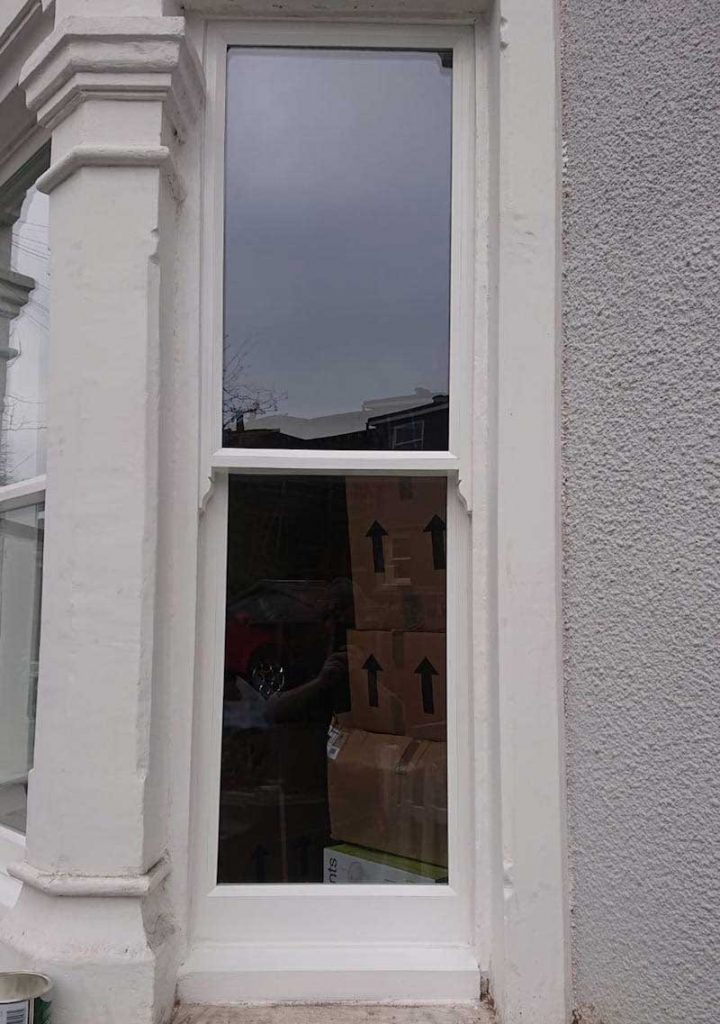 Sill primed and undercoated with double glazed sash fitted and sealed