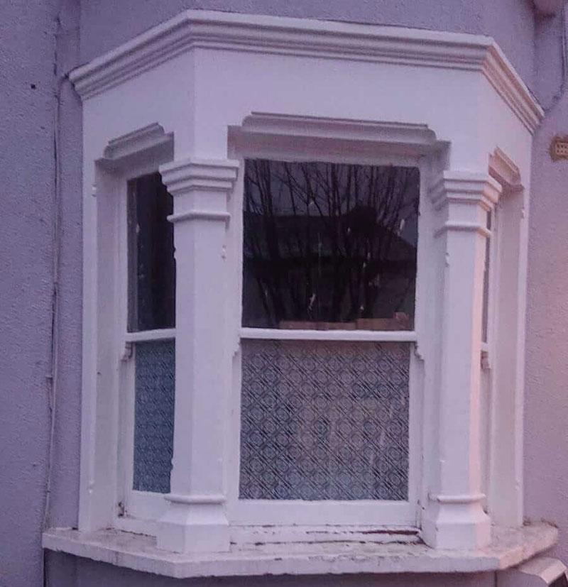 Single glazed sash window prior to install of double glazed sash.