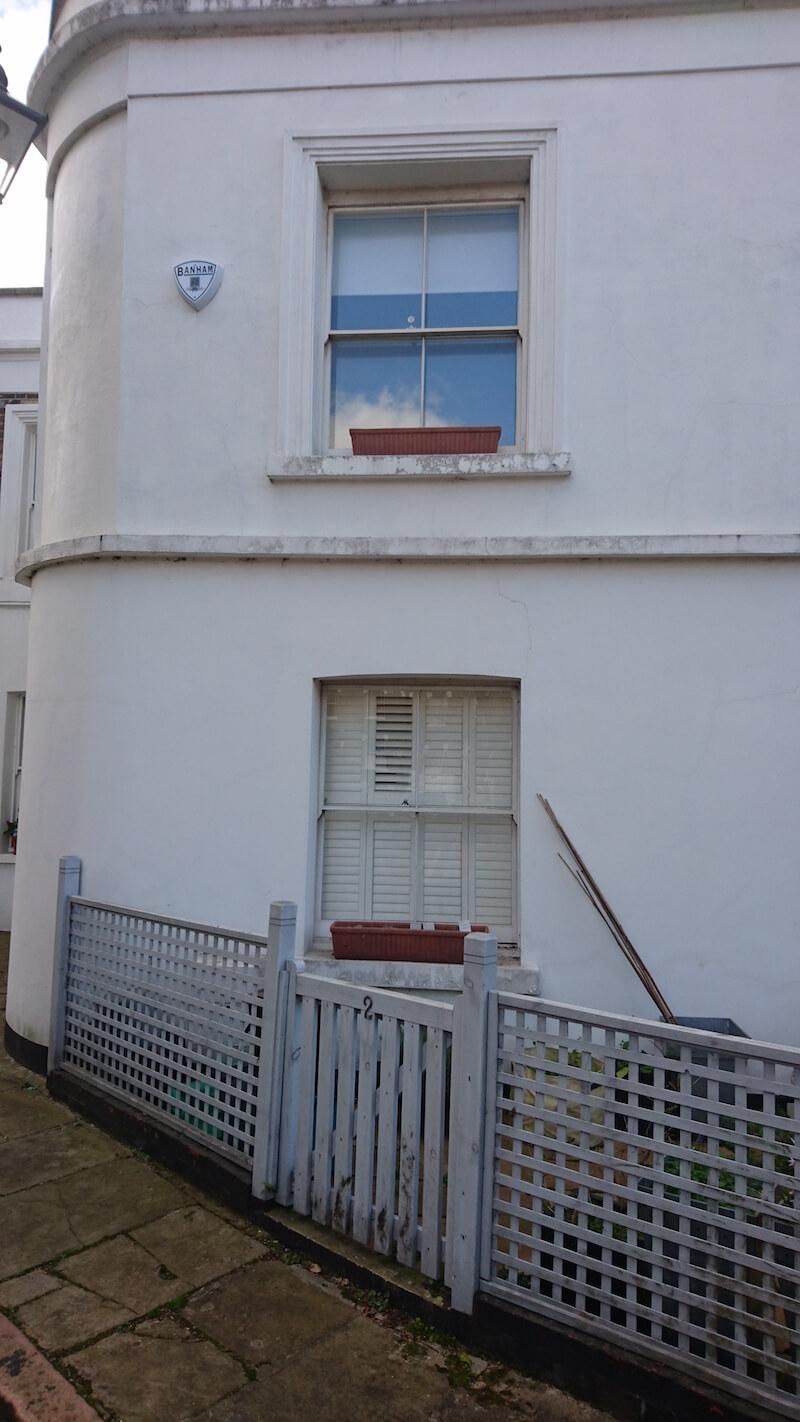 Single glazed sash windows in Islington that needed secondary glazed sash windows behind them to meet the U-value